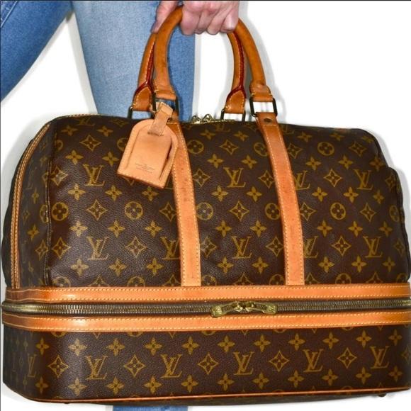 Louis Vuitton Handbags - Auth Louis Vuitton Sac Sport Travel Bag #848L25